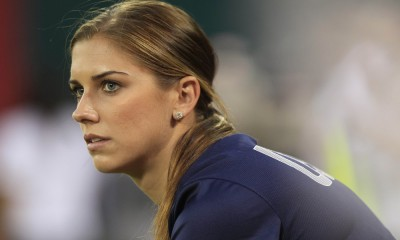 Sep 3, 2013; Washington, DC, USA; United States forward Alex Morgan (13) sits on the bench prior to the United States' friendly against Mexico at RFK Stadium. The United States won 7-0. Mandatory Credit: Geoff Burke-USA TODAY Sports